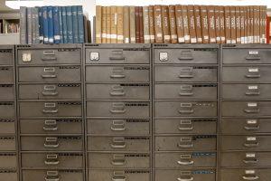 Old Grey Metal Filing File Cabinets
